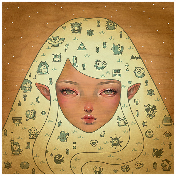 """Dreaming Of Koholint Island"" by Audrey Kawasaki. 12″ x 12″ Giclee. Edition of 250 S/N. $140"