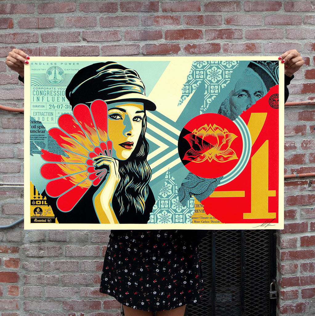 """Fan the Flames"" by Shepard Fairey"