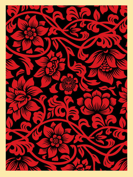 """Floral Takeover"" (Red/Black) by Shepard Fairey"