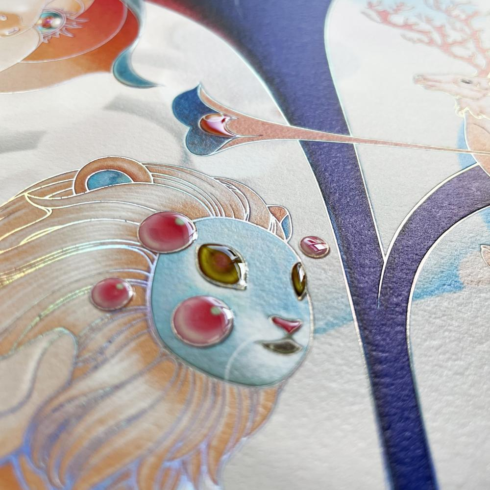 """""""Forager III"""" (Detail 4) by James Jean"""