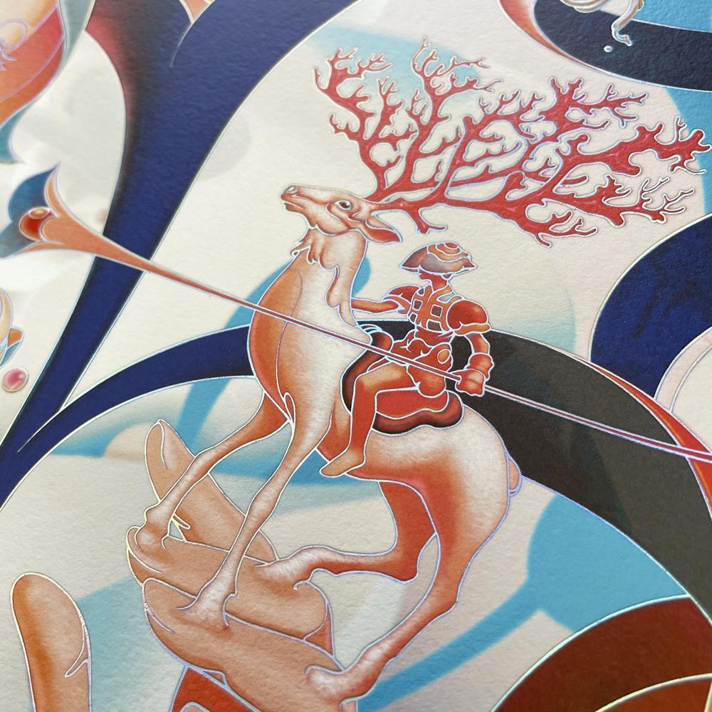 """""""Forager III"""" (Detail 5) by James Jean"""