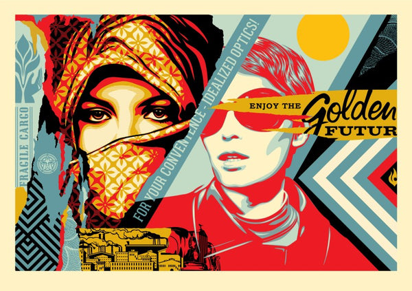"""Golden Future"" by Shepard Fairey"
