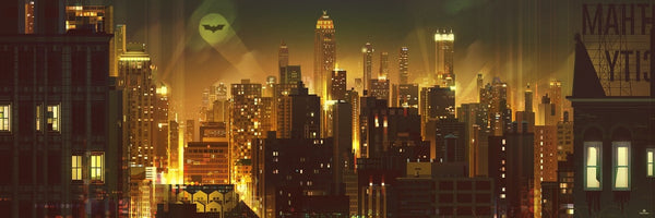 """Gotham"" (Fire Red variant) by James Gilleard"