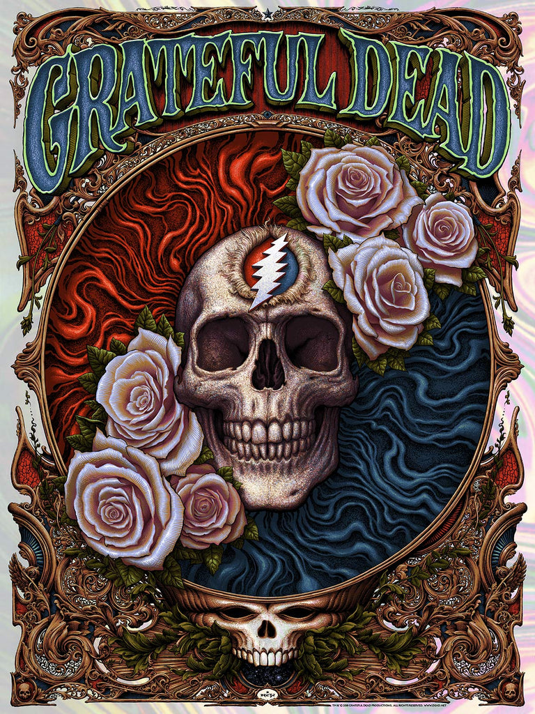 """Grateful Dead"" (Moon Lava Rainbow Foil Variant) by NC Winters"