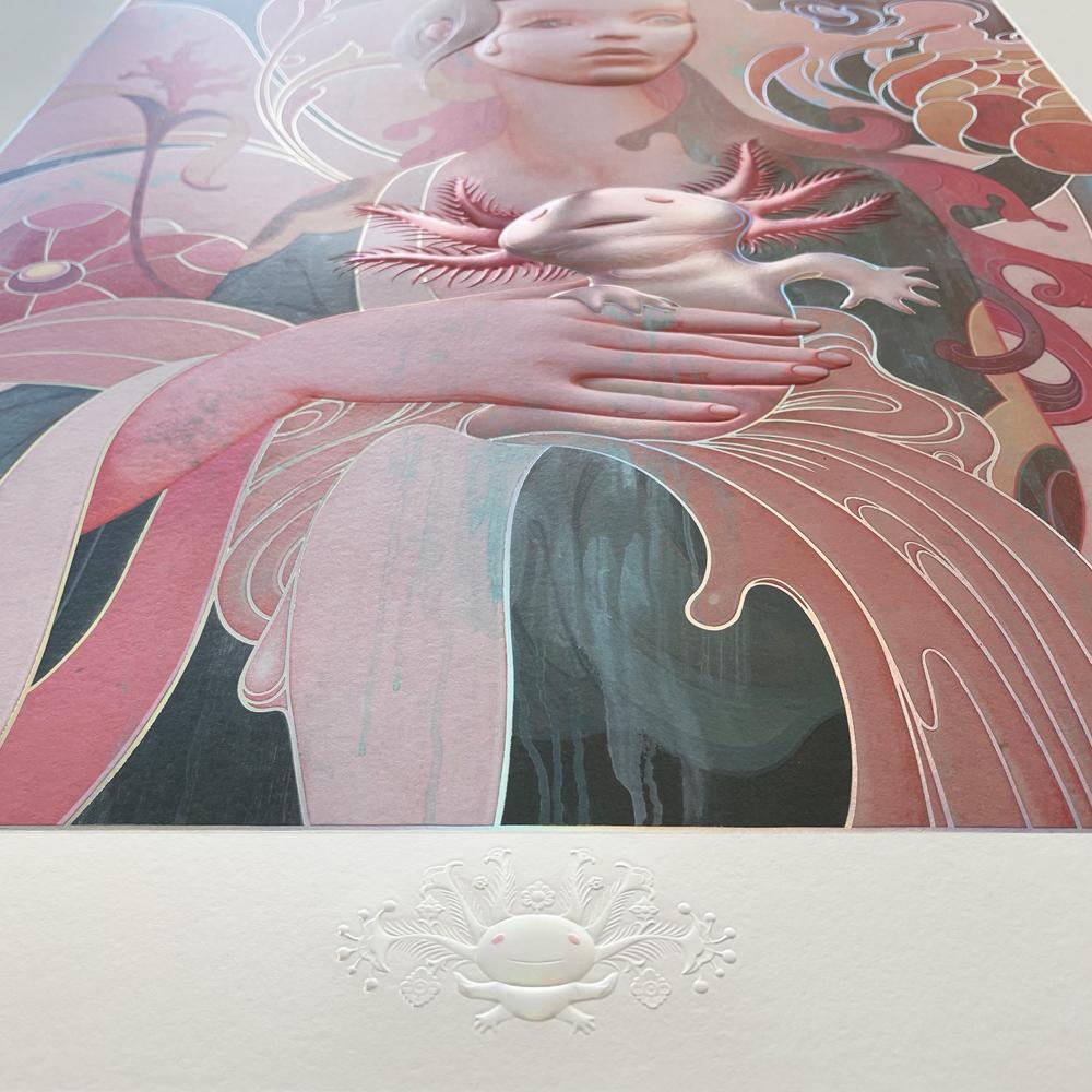 """""""Lady with an Axolotl"""" (Detail 1) by James Jean"""