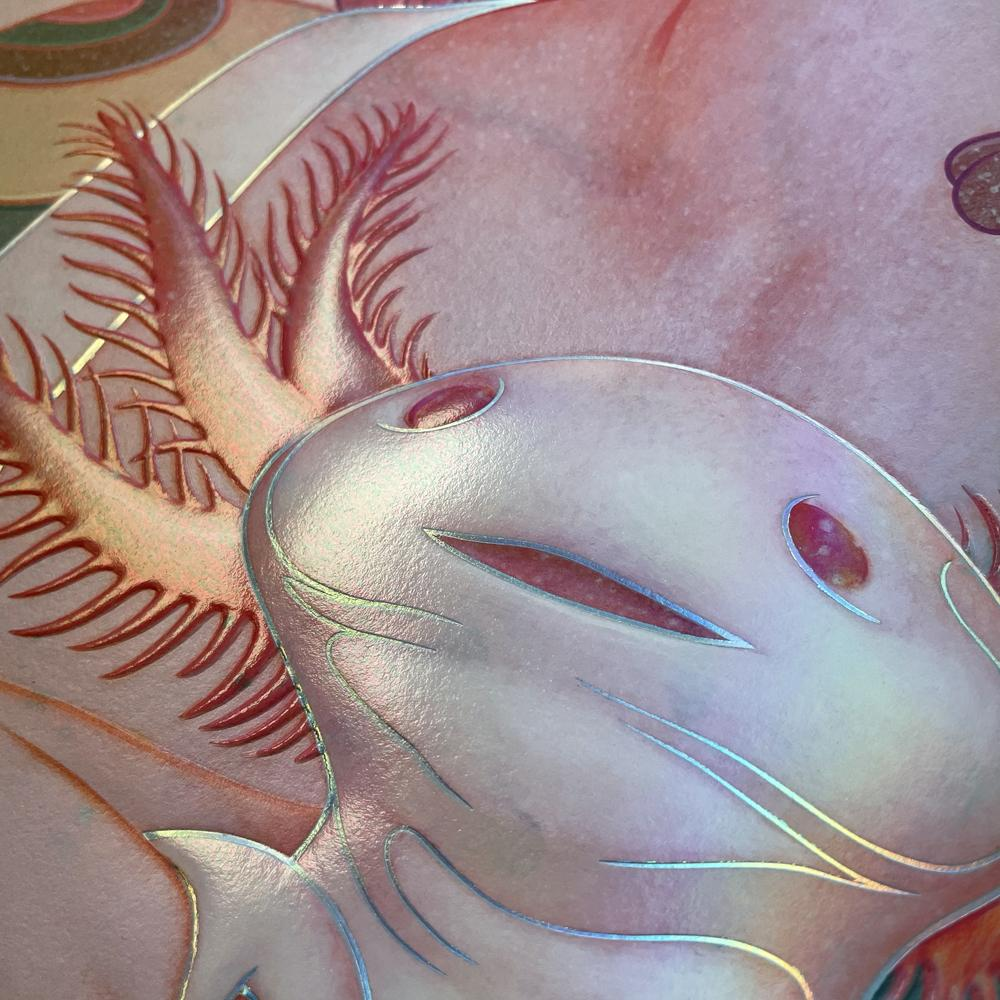 """""""Lady with an Axolotl"""" (Detail 4) by James Jean"""