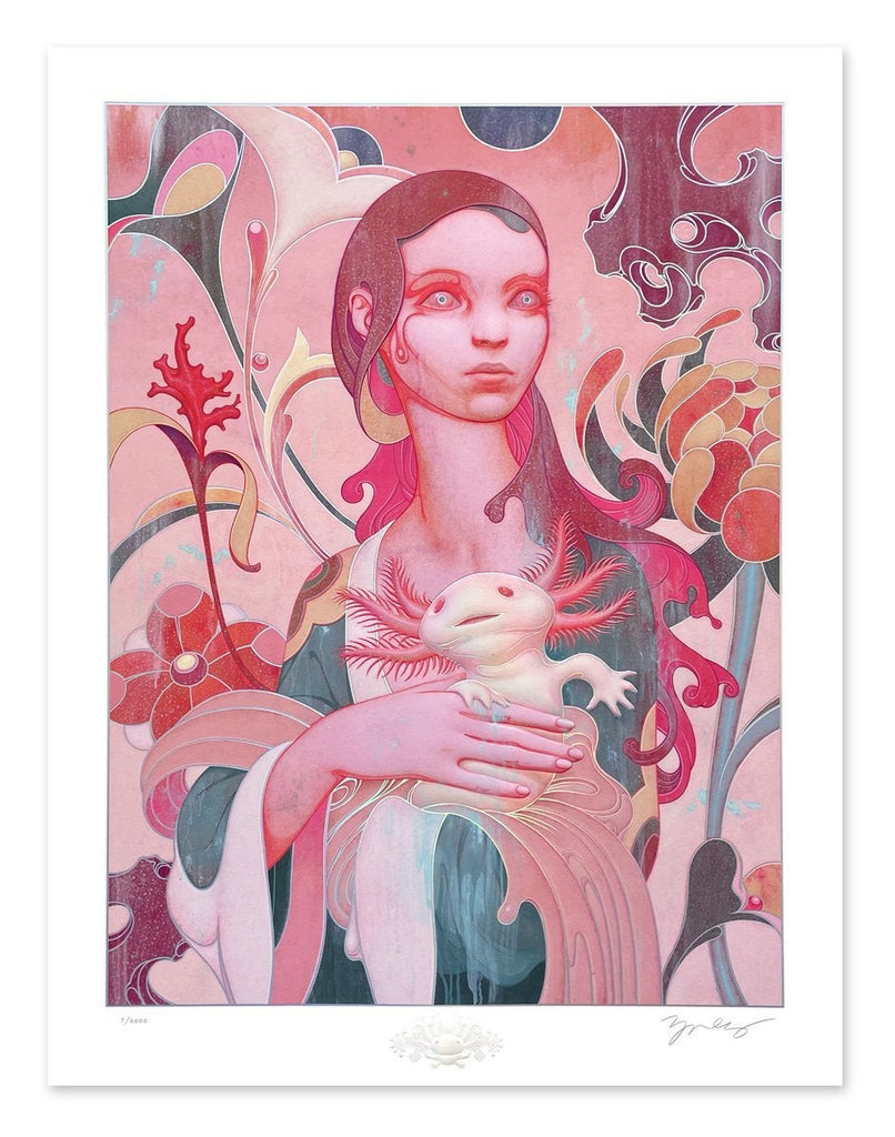 """""""Lady with an Axolotl"""" by James Jean"""