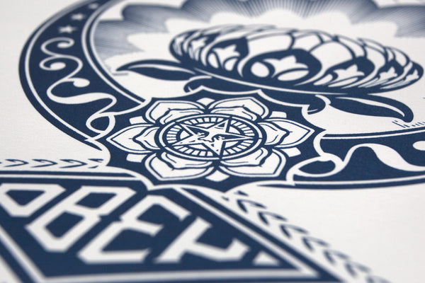 """Lotus Ornament"" (Detail 2) by Shepard Fairey"