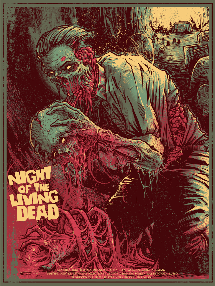 """Night of the Living Dead"" by Godmachine"