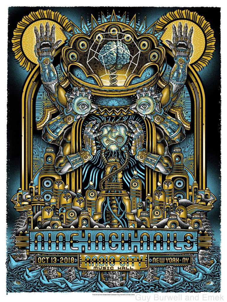 """NIN New York CIty 2018"" by EMEK & Guy Burwell"
