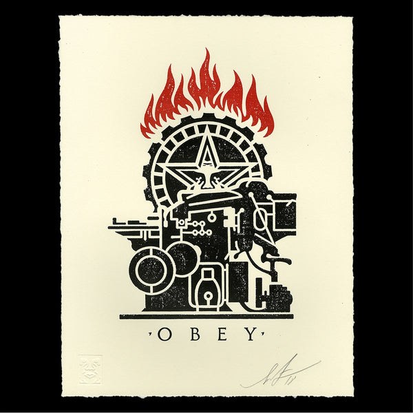 """Obey Printing Press"" by Shepard Fairey"