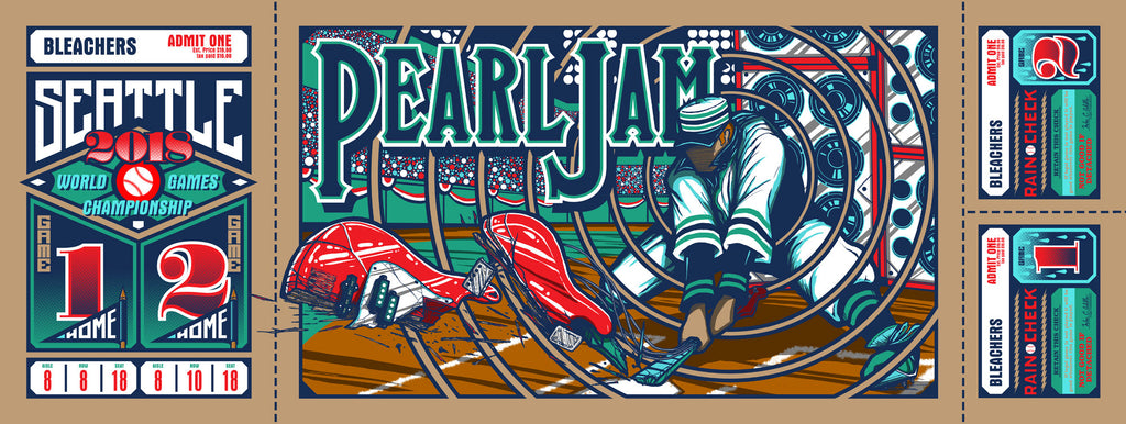 """Pearl Jam Seattle 2018"" by Brad Klausen"