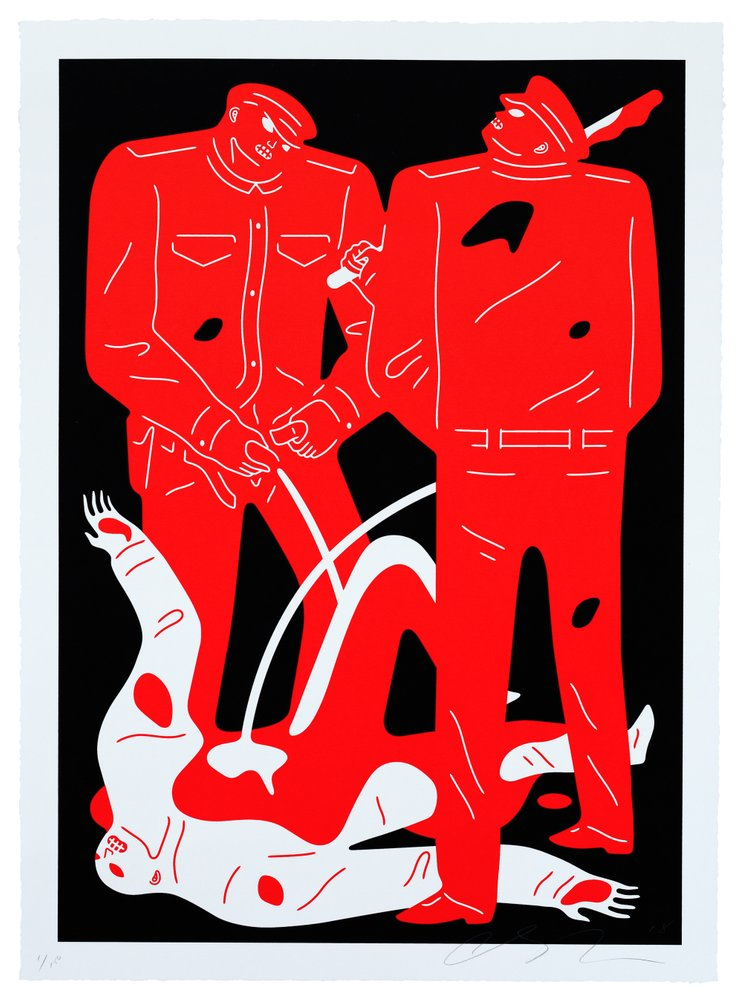 """Pissers"" (Black Colorway) by Cleon Peterson"