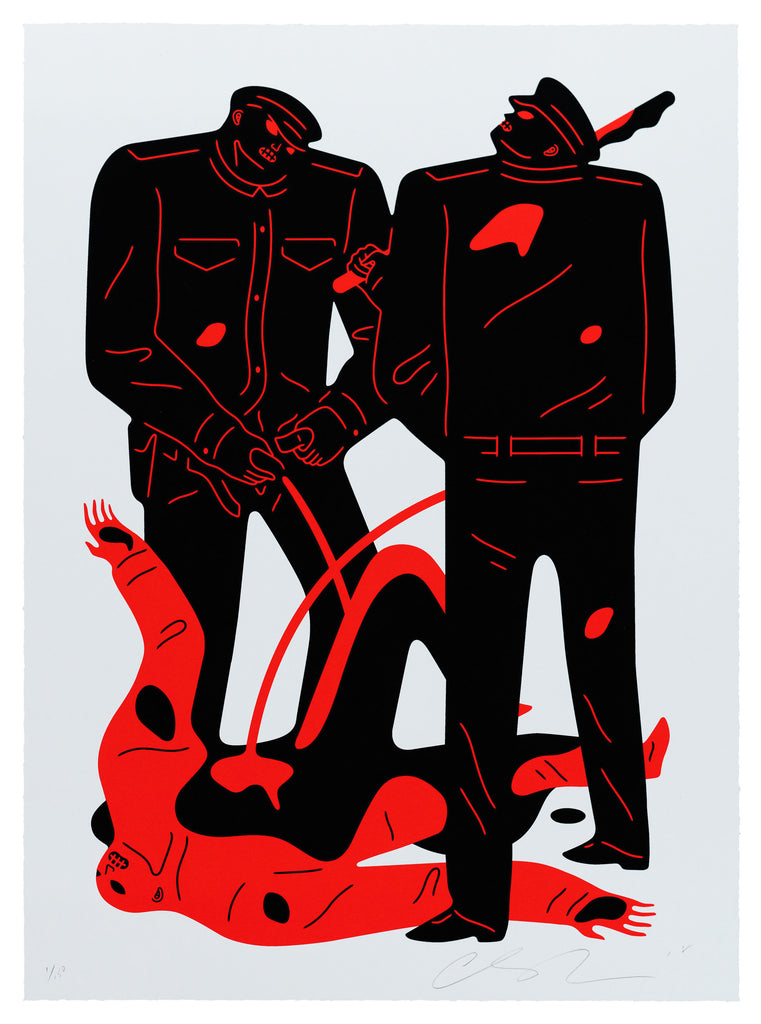 """Pissers"" (White Colorway) by Cleon Peterson"