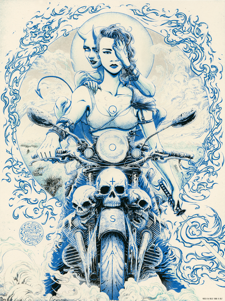 """Queens of the Stone Age Toronto 2017"" (Cool Chrome variant) by Miles Tsang"
