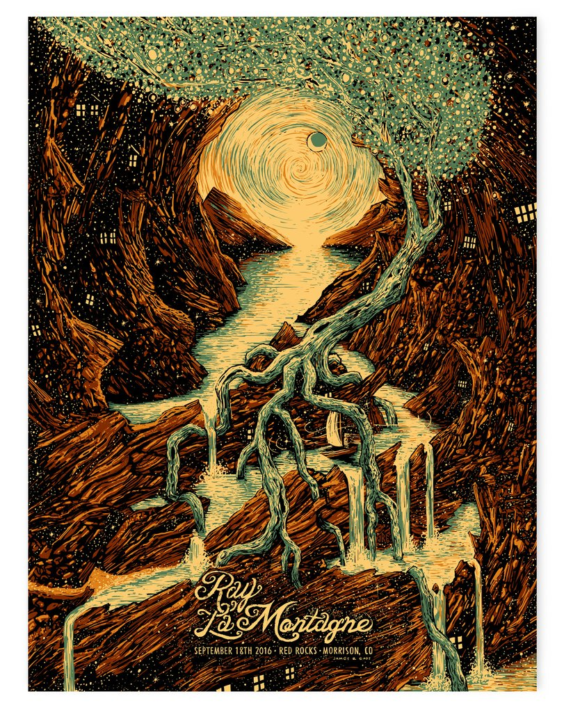 """Ray LaMontagne Red Rocks 2016"" by James Eads"