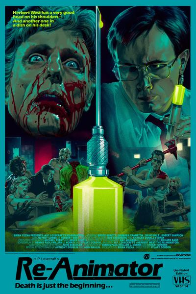 """Re-Animator"" (VHS Wood Variant) by Stan & Vince"