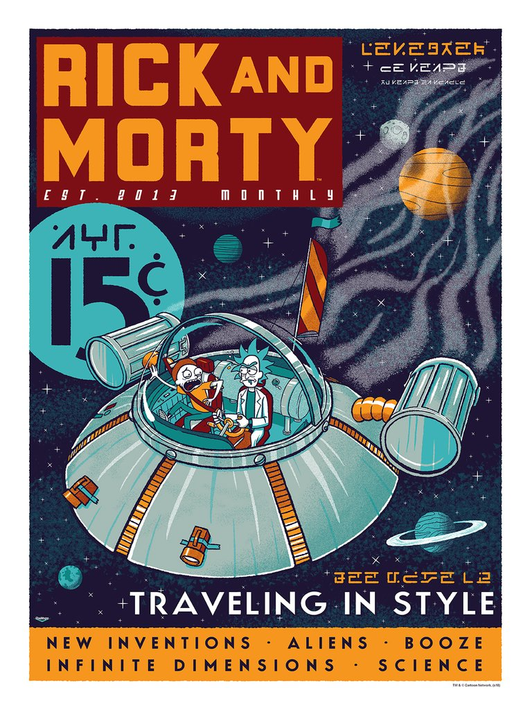 """Rick and Morty: Traveling in Style"" by Ian Glaubinger"