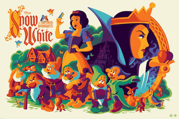 """Snow White and the Seven Dwarfs"" by Tom Whalen"