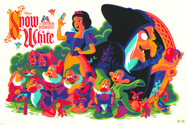 """Snow White and the Seven Dwarfs"" White Gold Variant by Tom Whalen"