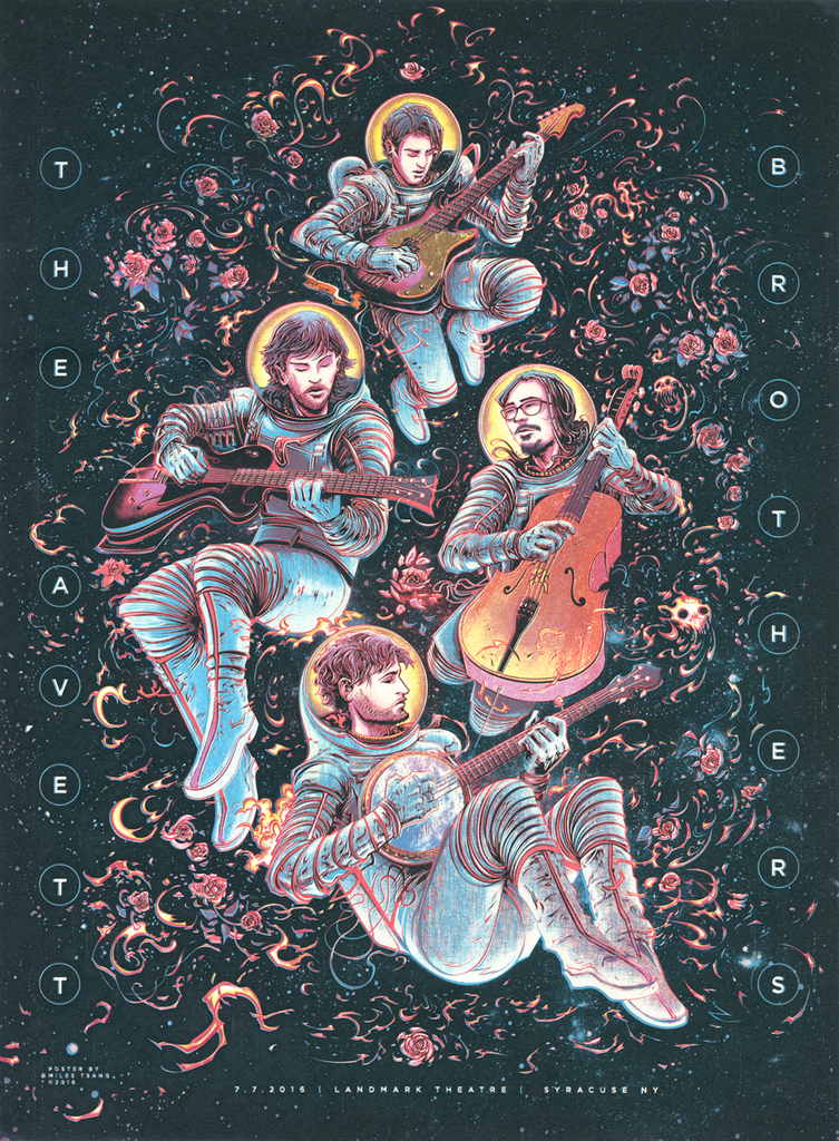 """The Avett Brothers"" by Miles Tsang - Pastel Variant"