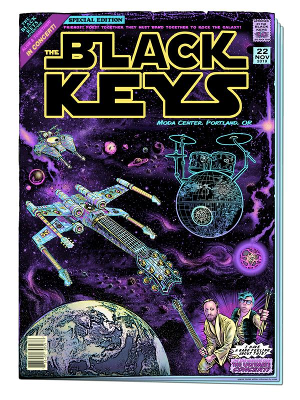 """The Black Keys Portland 2019"" by EMEK"