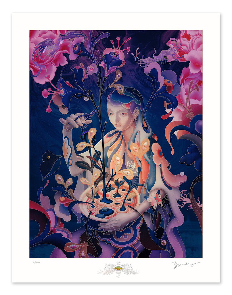 """The Editor - Night Mode"" by James Jean"
