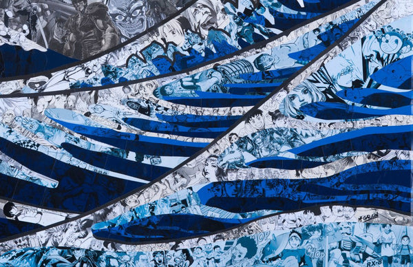 """The Great Wave"" (Detail 1) by Mr Garcin"