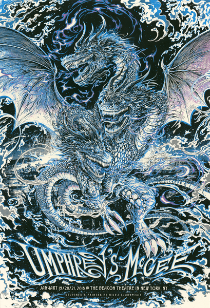 """Umphrey's McGee New York 2018"" (Viserion Blue variant) by Miles Tsang"