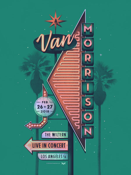 """Van Morrison Los Angeles 2018"" by DKNG"