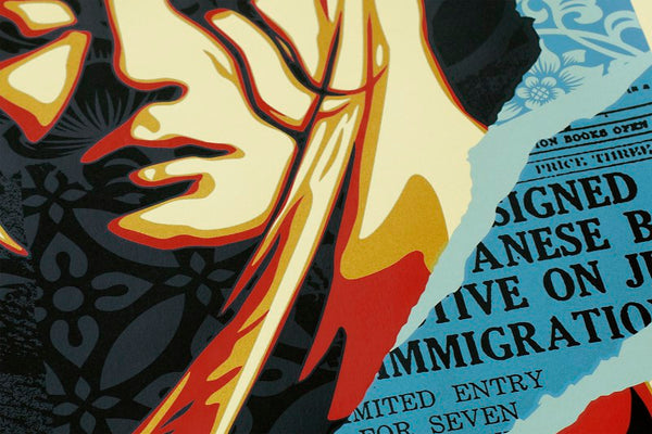 """Welcome Visitor"" (Detail 1) by Shepard Fairey"