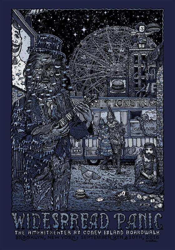 """Widespread Panic Brooklyn 2016"" (Variant) by David Welker"