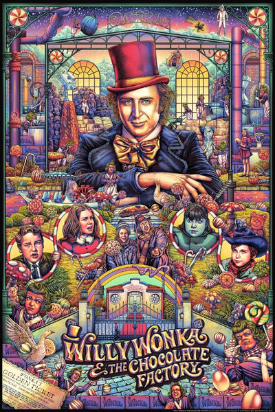 """Willy Wonka & the Chocolate Factory"" (Variant) by Ise Ananphada"