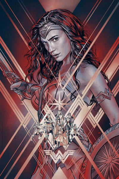 """Wonder Woman"" (Variant) by Martin Ansin"