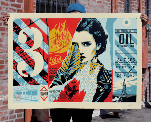 """Wrong Path"" (Detail 1) by Shepard Fairey"