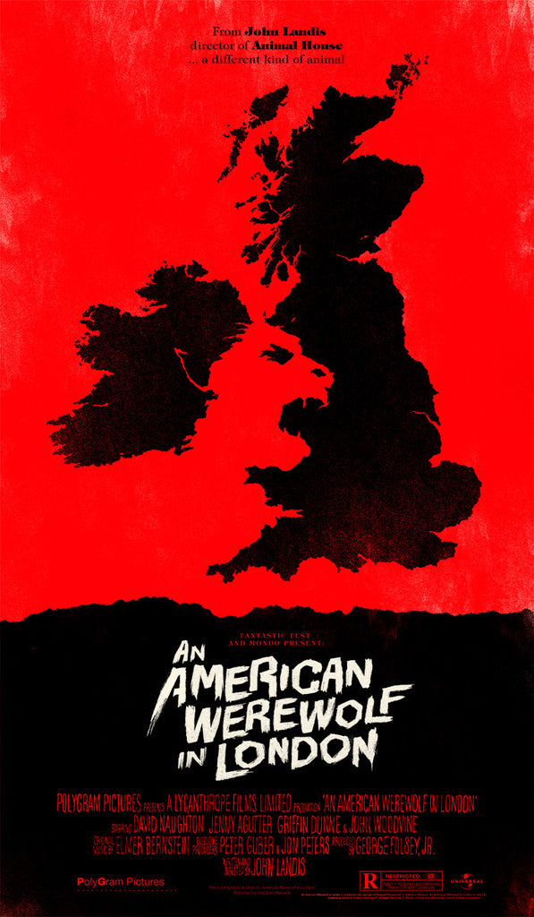 "Olly Moss - ""American Werewolf in London"" 1st Edition - 2011"