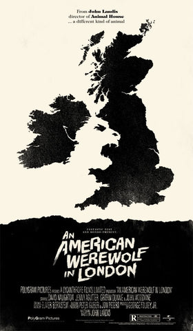 "Olly Moss - ""American Werewolf in London"" Variant - 2011"