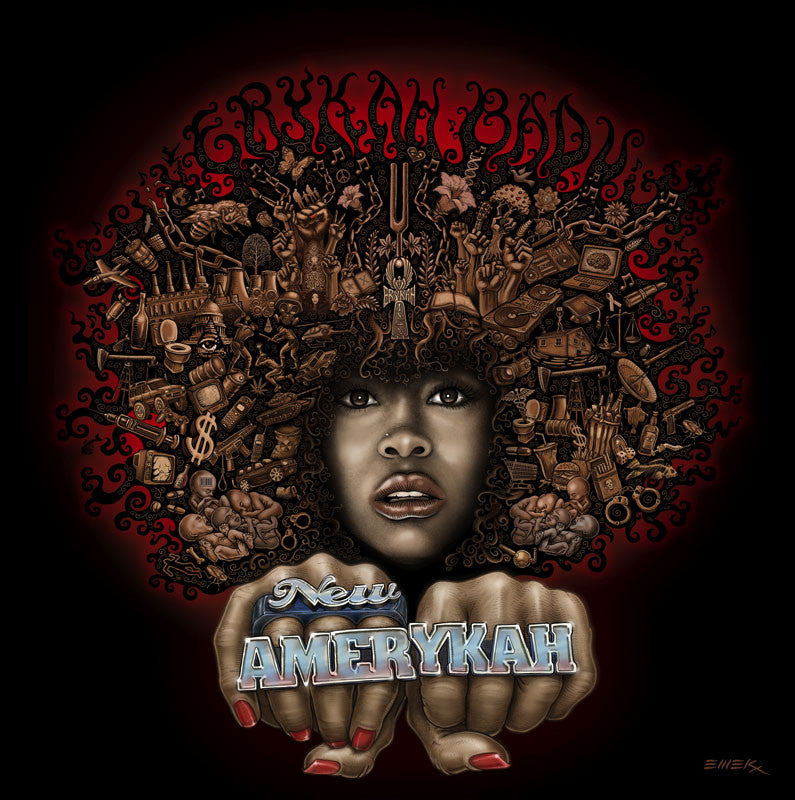 "EMEK - ""Erykah Badu New Amerykah Dallas"" GIclee Edition -2008"