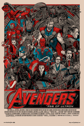 "Tyler Stout - ""Avengers: Age of Ultron"" Signed 1st Edition - 2015"
