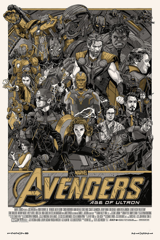"Tyler Stout - ""Avengers: Age of Ultron"" Signed Variant - 2015"