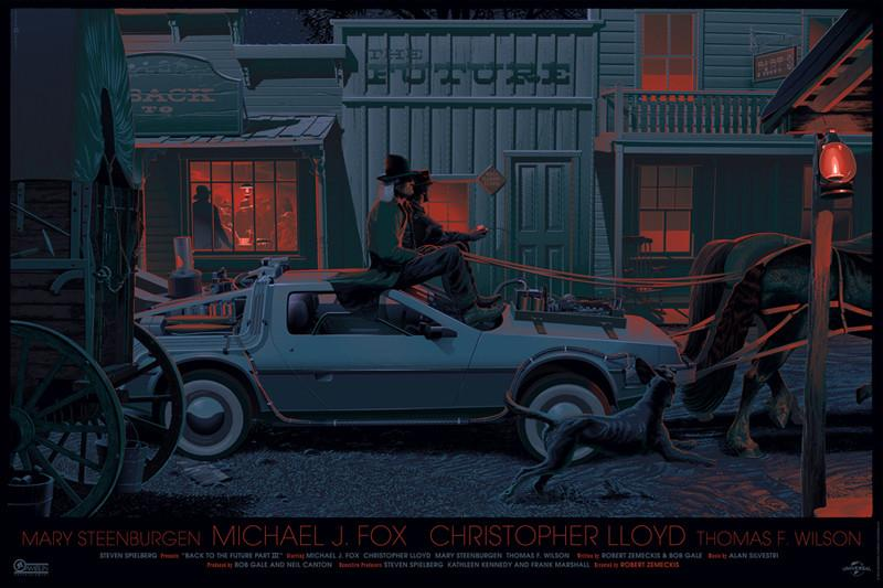"Laurent Durieux - ""Back to the Future Part III"" Variant - 2014"