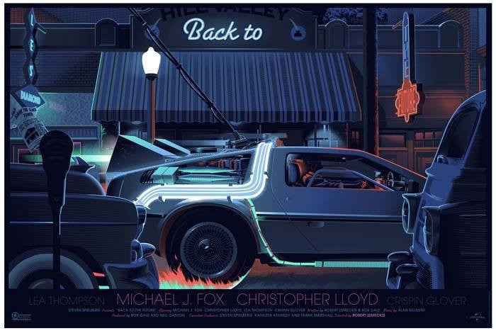 "Laurent Durieux - ""Back to the Future Part I"" 1st Edition - 2014"