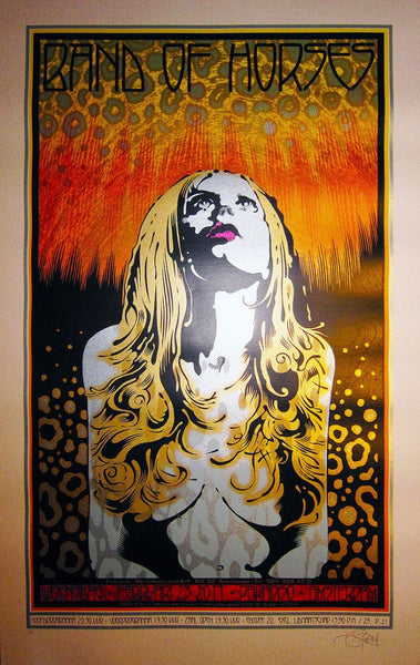 "Chuck Sperry - ""Band of Horses Amsterdam"" Speckled Egg Variant - 2011"