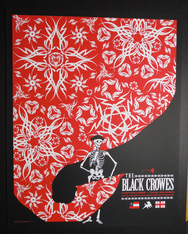"Todd Slater - ""Black Crowes Tulsa"" 1st Edition - 2008"