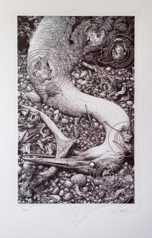 "Aaron Horkey - ""Black Lake"" 1st Edition - 2014"