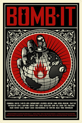 "Shepard Fairey - ""Bomb It"" Large Offset Edition - 2008"