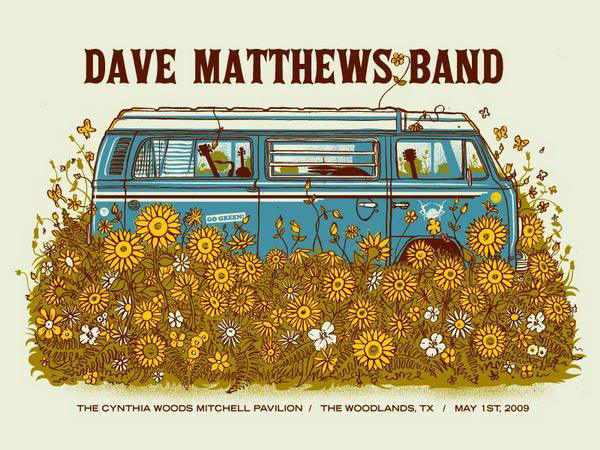 "Methane Studios - ""Dave Matthews Band Woodlands"" 1st Edition - 2009"