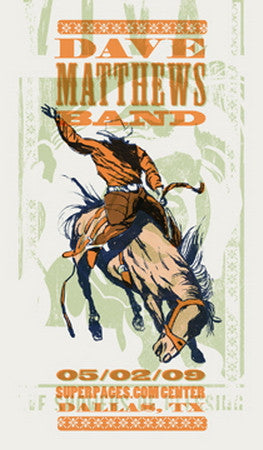 "Methane Studios - ""Dave Matthews Band Dallas"" 1st Edition - 2009"