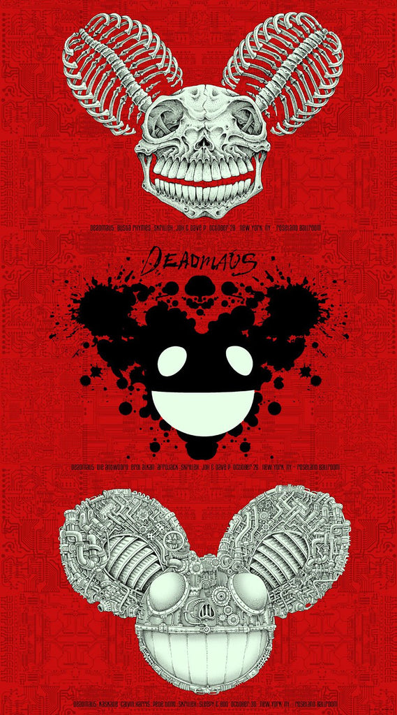 "EMEK - ""Deadmau5 NYC"" Uncut Red Proof - 2010"