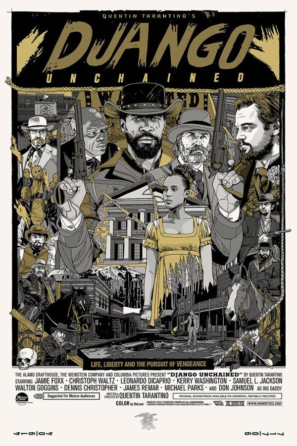 "Tyler Stout - ""Django Unchained"" Signed Variant - 2013"